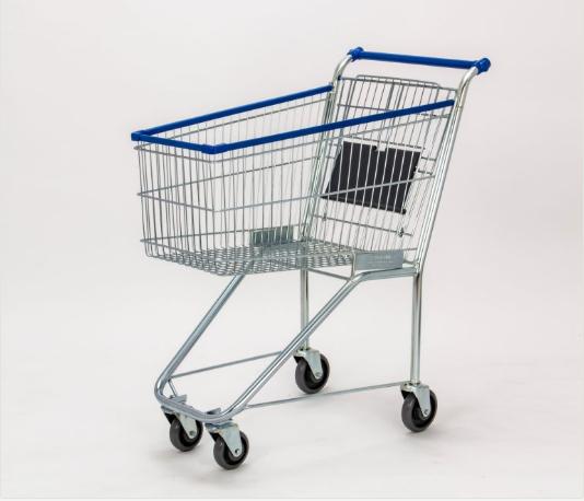 Carro para compras 130L com assento para criança
